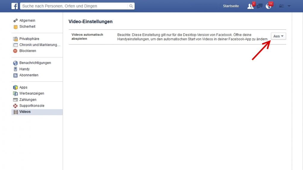 Video Autoplay Facebook Deaktivieren