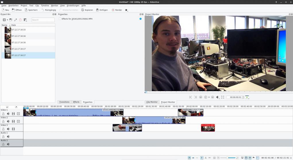strongMedienbearbeitung unter Linux:/strongKdenlive für die Videobearbeitung