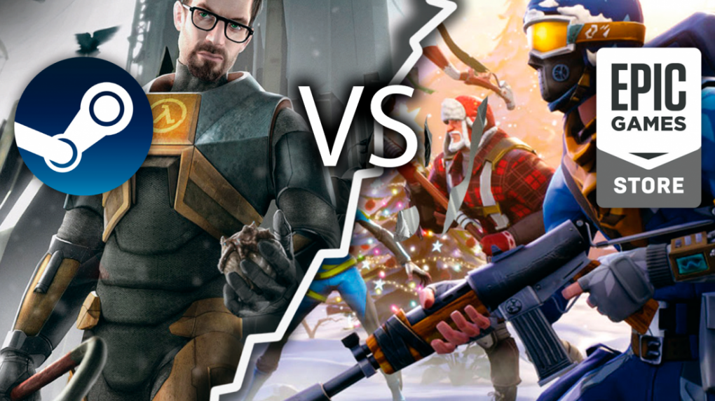 [PLUS]   Epic Store Versus Steam: Store Battle Royale