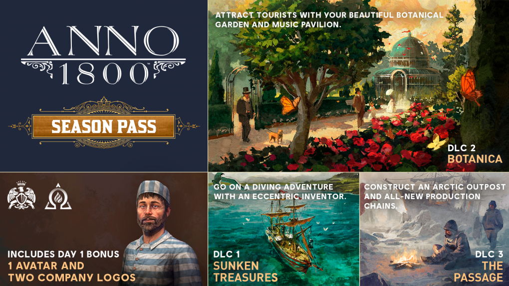 <strong>Roadmap für Anno 1800: Season Pass, DLCs</strong>
