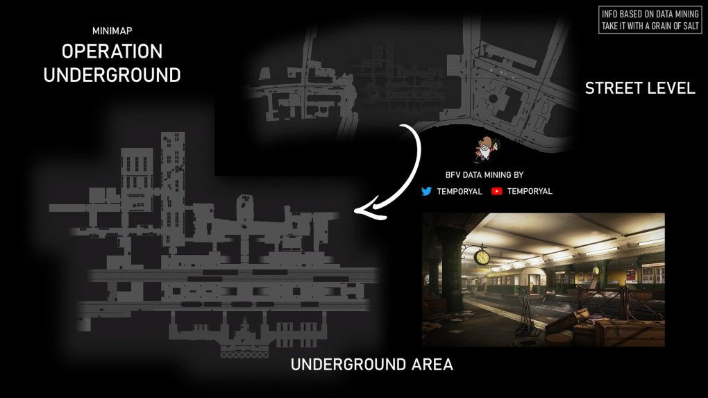 Battlefield 5 Operation Underground: Minimap