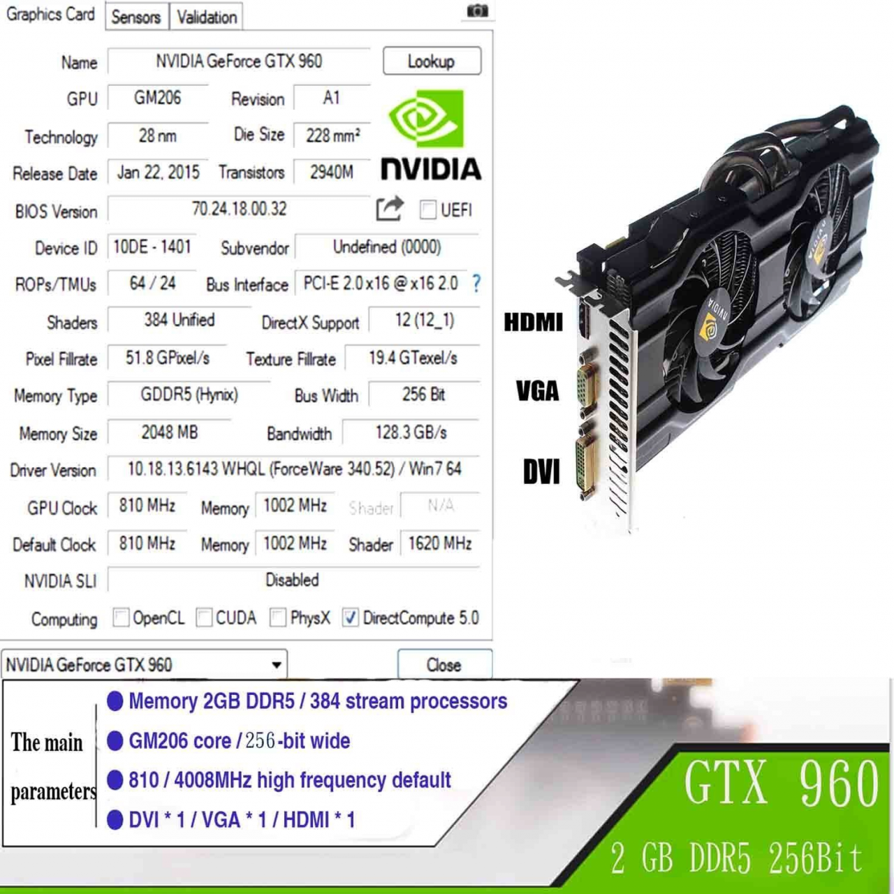 Vor der Geforce GTX 1060: Gefälschte GTX 960 zu günstigen