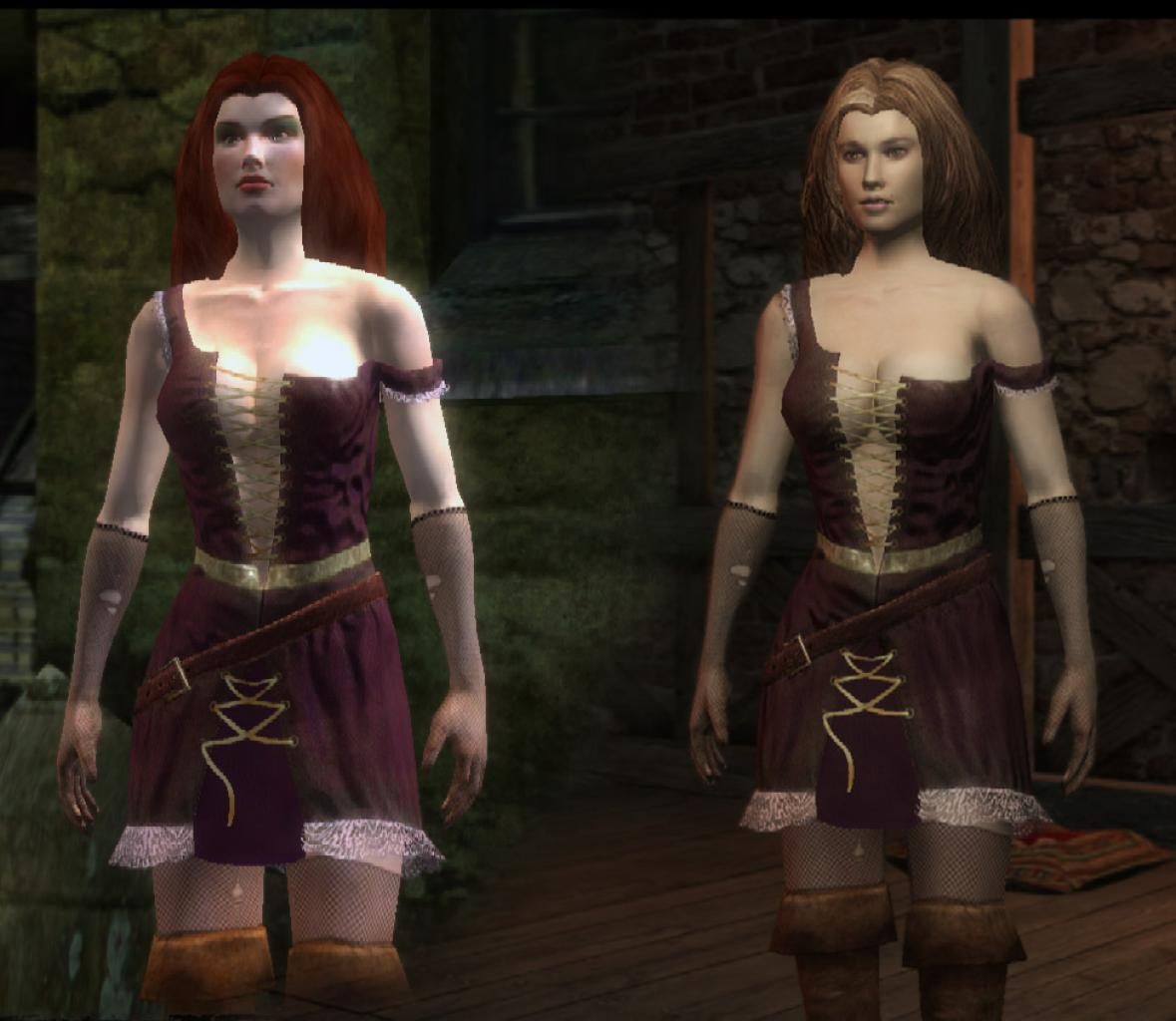 [27/08/08] The Witcher Enhanced: new polygon model for Carmen (on the left: the old one; on the right: the enhanced edition)