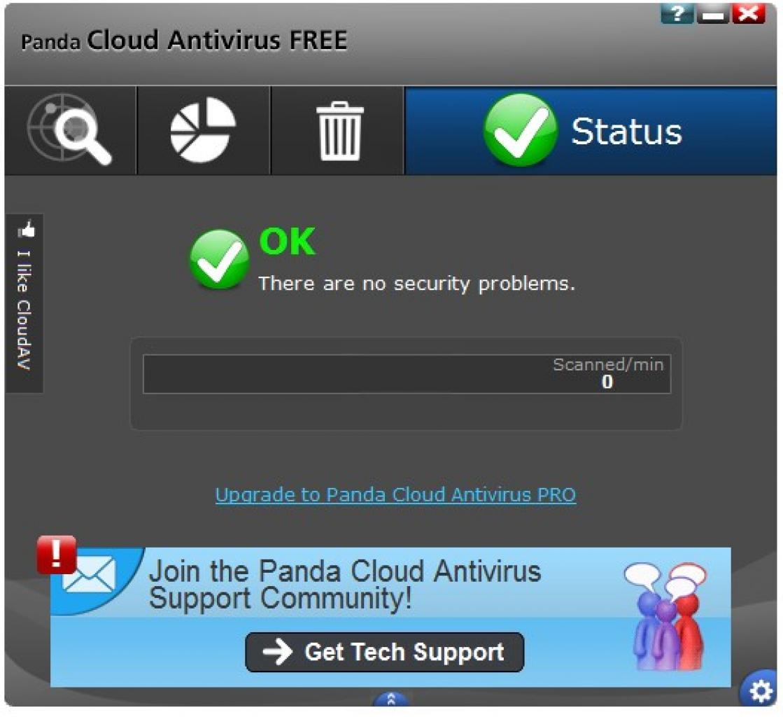 Panda cloud antivirus free edition 2.2.1