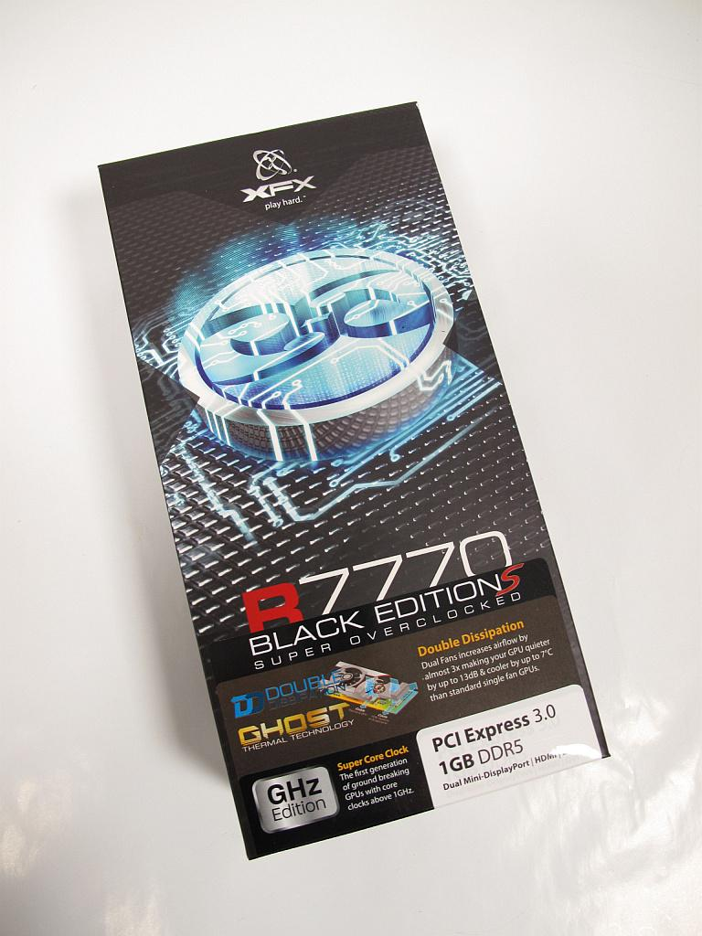 XFX R7770 Black Edition Suoer Overclocked 1120M: Packung