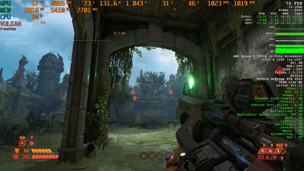Doom Eternal RT X AA Comparison 1 DLSS OFF