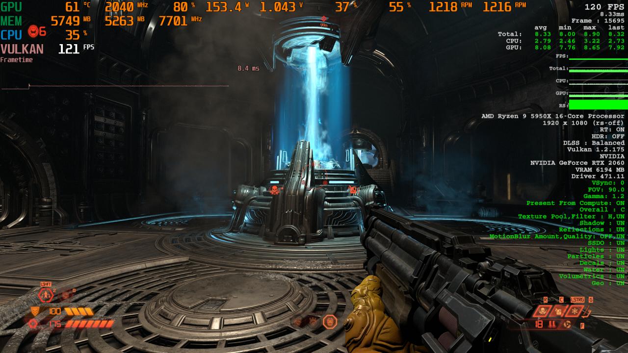 Doom Eternal RT X AA Comparison 2 DLSS Balanced