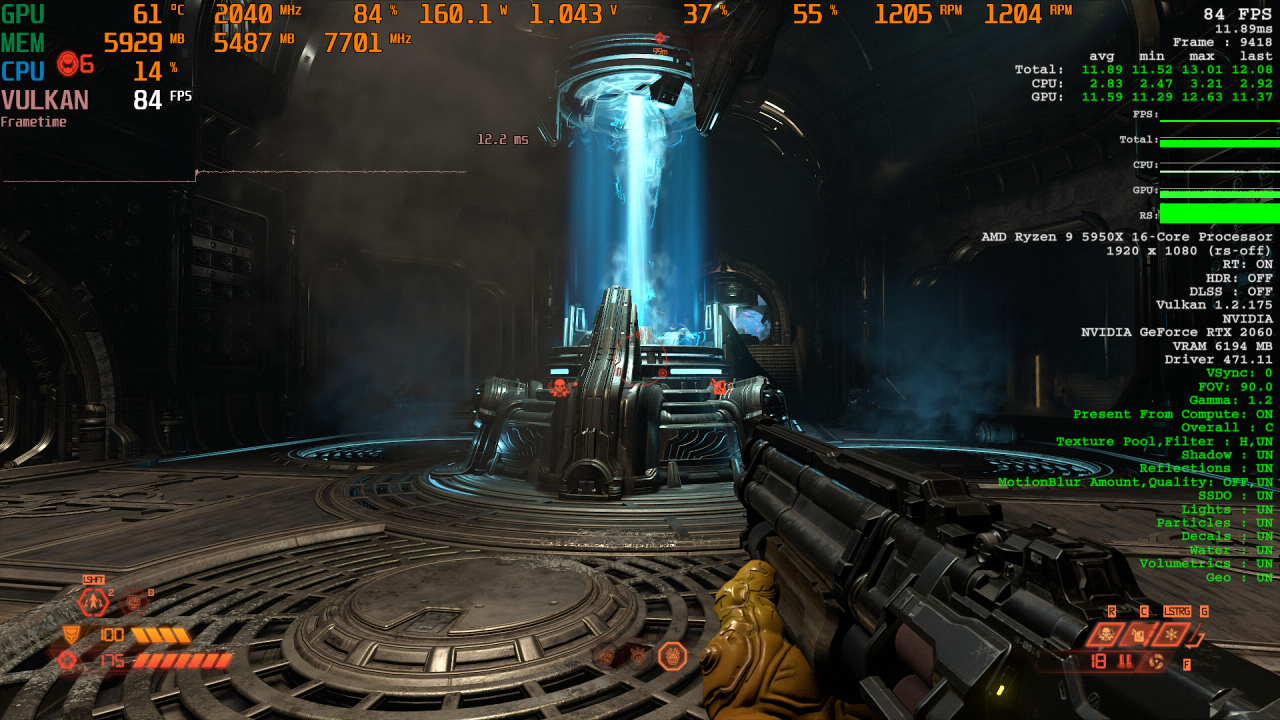Doom Eternal RT X AA Comparison 2 DLSS OFF