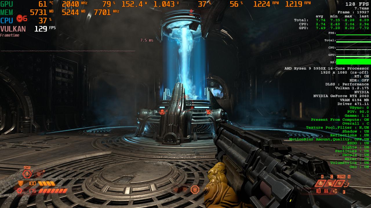 Doom Eternal RT X AA Comparison 2 DLSS Performance