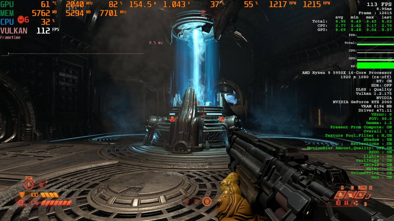 Doom Eternal RT X AA Comparison 2 DLSS Quality