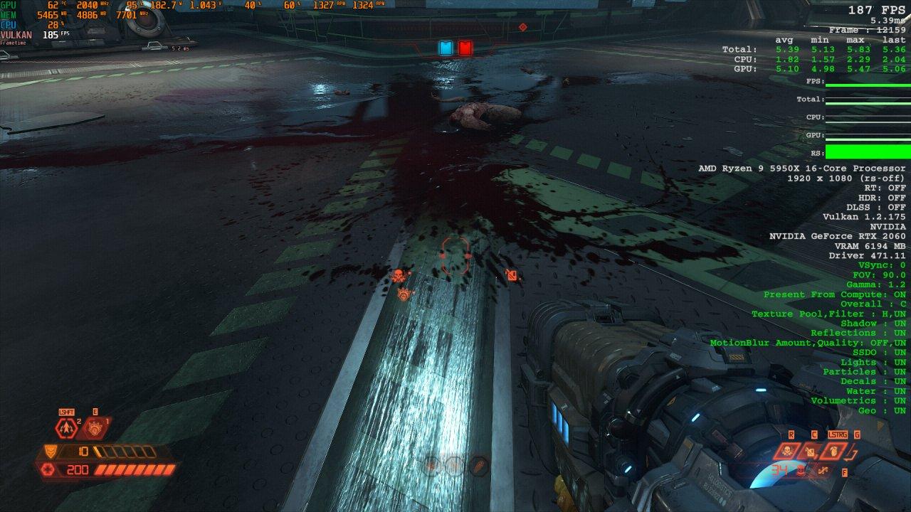 Doom Eternal Raytracing Comparison 2 Raytracing off