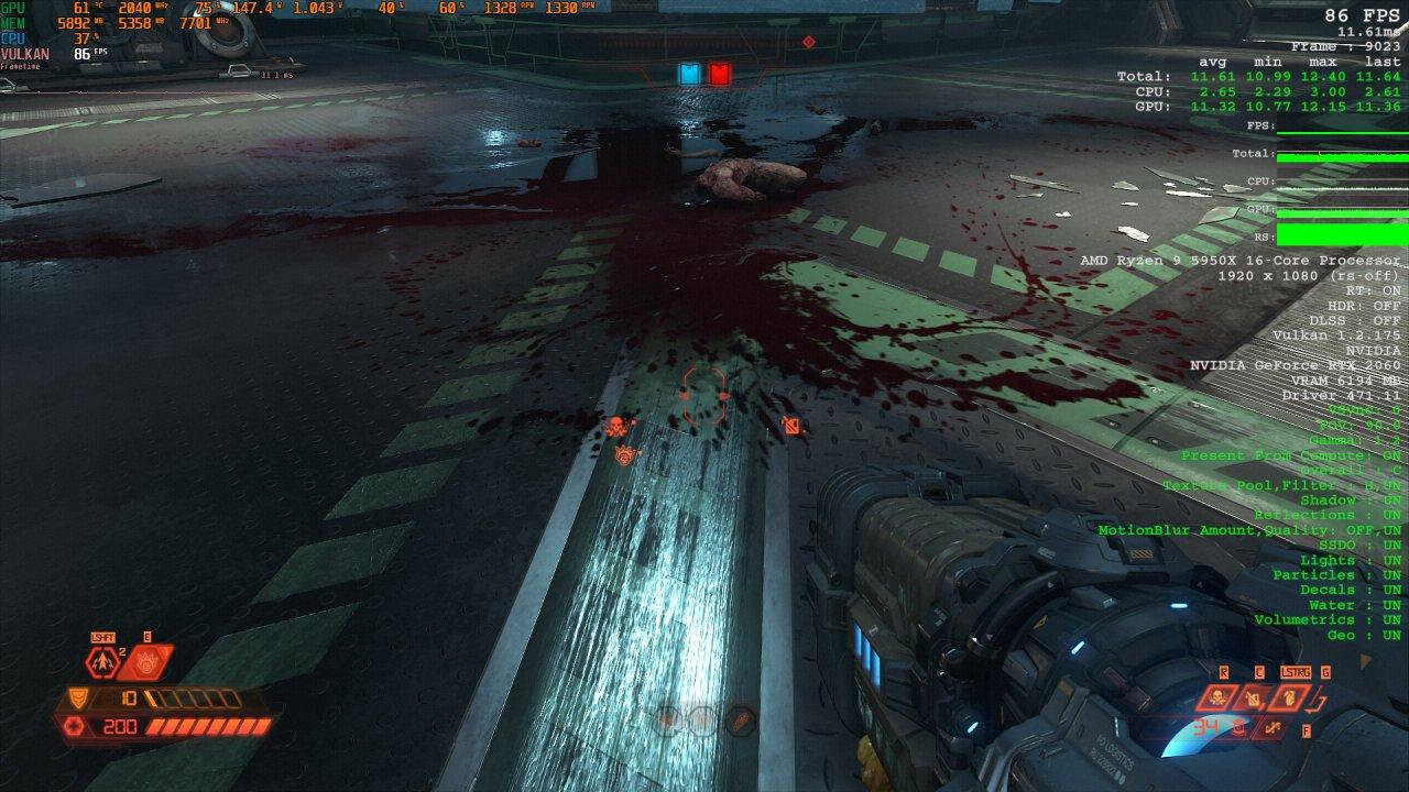 Doom Eternal Raytracing Comparison 2 Raytracing on