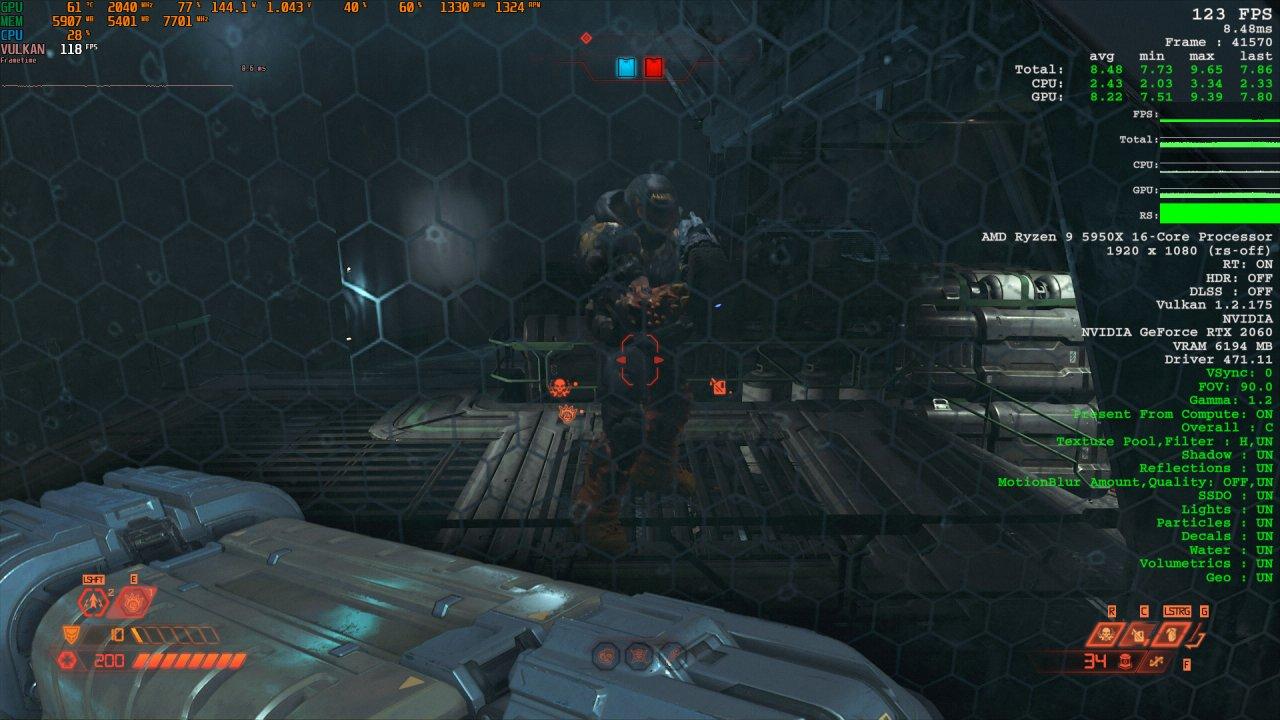 Doom Eternal Raytracing Comparison 4 Raytracing on