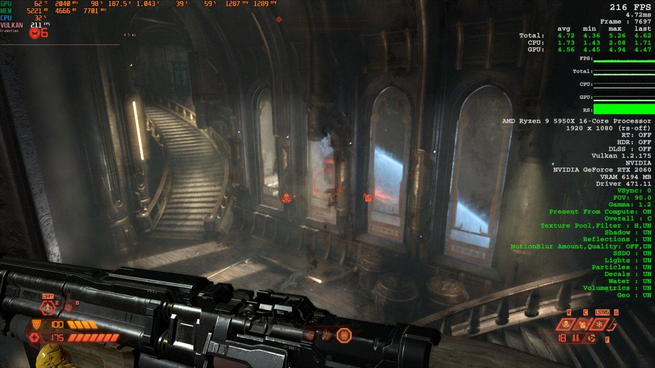 Doom Eternal Raytracing Comparison 6 Raytracing off