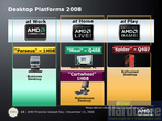 "At the Financial Analyst Day 2008 AMD presented details for the desktop platforms of the Spider successor Dragon as well as the new platforms for Business (""Kodiak"") and AMD Live! (""Pisces""). Important information you find here."