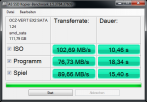 OCZ Vertex2 120GB AS-SSD-Benchmark Kopiertest