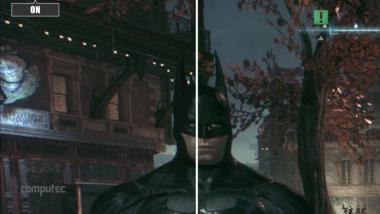 Batman: Arkam Knight - Patch im Grafikvergleichs-Video - Ambient Occlusion und Regeneffekte