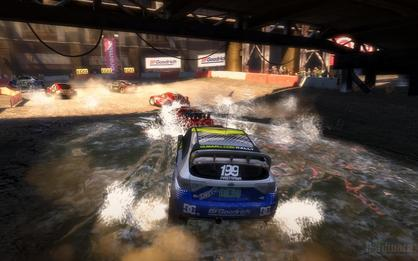 Colin McRae Dirt 2: Tessellated water with DX11