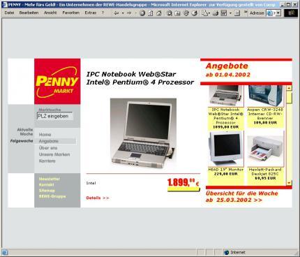 Penny Markt P4 Notebook Monitor Drucker Cd Brenner