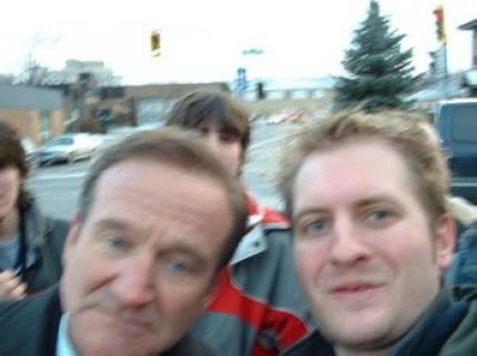 Robin Williams mit Weblogbetreiber Kev.