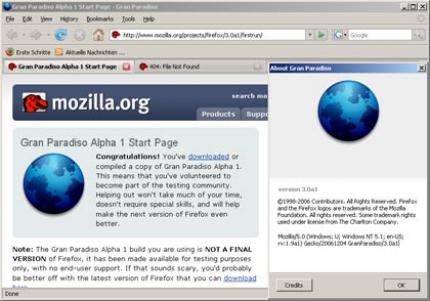 Download: Firefox 3 Alpha 3.0 A7