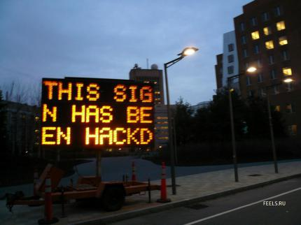 "Bild des Tages: ""This sign has been hacked"""