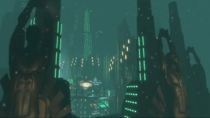 Screenshot: Rapture-Flyby (Bild: Take2/Irrational)