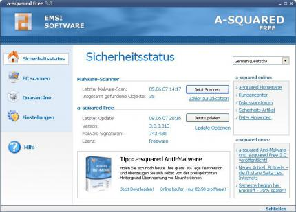 a-squared Free 3.0 (picture: emsisoft.com)