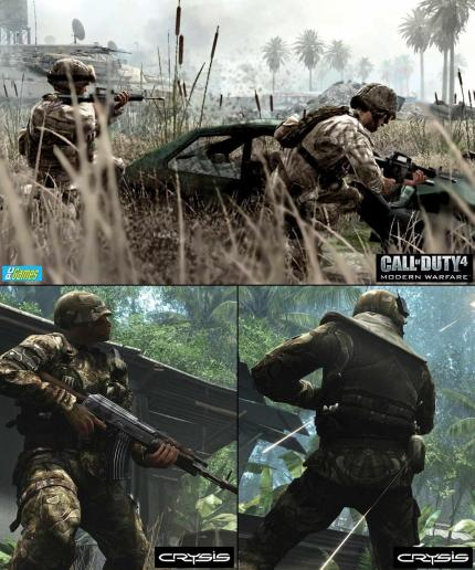 Grafik-Shootout: Call of Duty 4 vs. Crysis