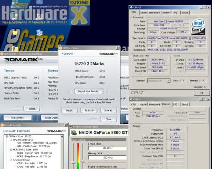 PCGH Extreme: Geforce 8800 GT im Overclocking-Test (Update: neue Werte)