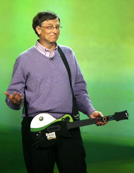 Bild des Tages: Bill Gates letzter Akkord - while his guitar gently weeps