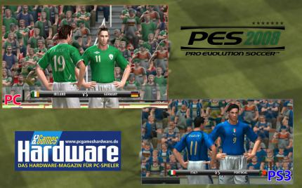 Pro Evolution Soccer 2008: PC versus PS3