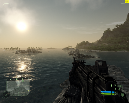 Crysis mit Patch Version 1.1: 'Very High' auf der Geforce 8800 GTS/512 (Bild: PCGH)