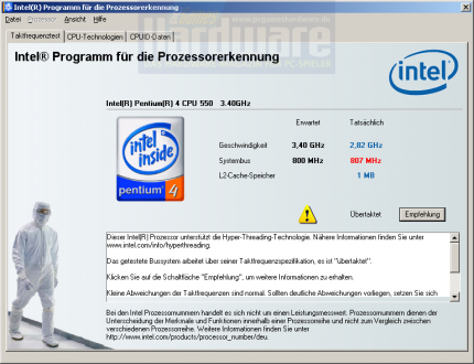 Intel Processor Idenfitication Utility (Bild: PCGH)