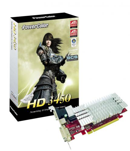 Powercolor Radeon HD3450: 256 MiByte DDR2 (Bild: Powercolor)