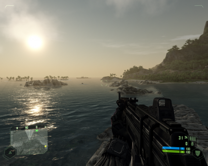 Crysis Version 1.0: 'Very High' auf der Radeon HD3870 (Bild: PCGH)