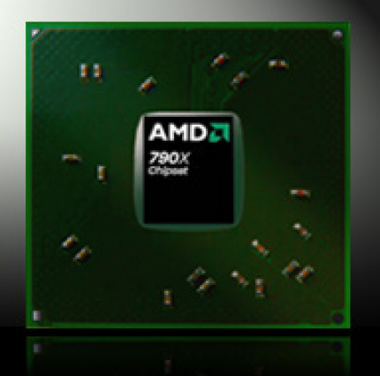 790GX: AMD's new chip supports CrossfireX and Hybrid Crossfire (picture: AMD)
