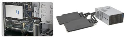 The NV200 VGA Coldplate fits into all cards of the GTX 2x0 series. (picture: CoolIT Systems)