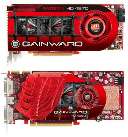 Gainward introduces a Radeon HD4870 and a HD4850 , too (picture: matbe)