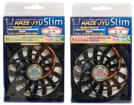 The Scythe Kaze Jyu Slimhas an unconventional dimension of 100 mm x 100 mm.
