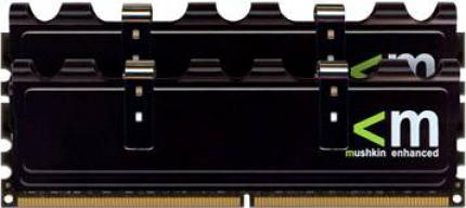 Mushkin 996580X  PC2-6400: Memory modules of the X-Line series have a nice black PCB. (picture: Mushkin)