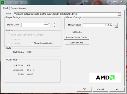 AMD GPU Clock Tool: Overclocking tool for the Radeon HD 4000 series. (picture: Techpowerup)