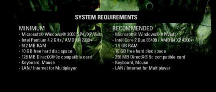 The system requirements of Stalker Clear Sky almost fully match those of Shadow of Chernobyl.