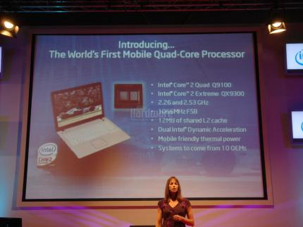 Intel presents the QX9300 for notebooks on the GC.