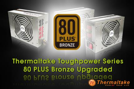 The Toughpower 600W, Toughpower 700W and Toughpower Qfan 500W are awarded with the 80 Plus Bronze certification. (picture: Thermaltake)