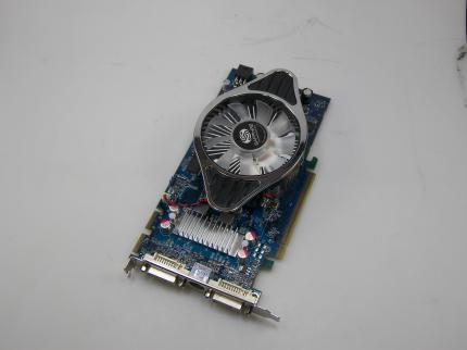 The HD 4830 sample from Sapphire has a non-default cooling solution and a blue PCB.