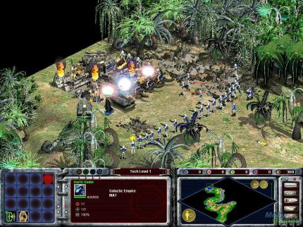 Star Wars Galactic Battlegrounds, 2001 (picture: Mobygames.com) - With the Age of Empires Engine this game was quite good and delivered some real-time strategy fun in the Star Wars universe.