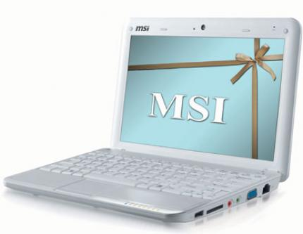 Due to the new BIOS 1.09 MSI's Wind U100 can be overclocked easily. (picture: MSI)