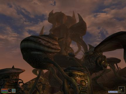 The Elder Scrolls III - Morrowind: Extraordinary architecture