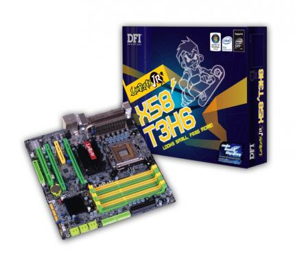 DFI Lanparty JR X58-T3H6: micro ATX motherboard with X58 chipset (picture: DFI)